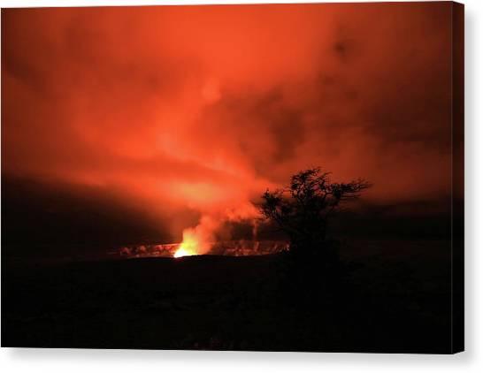 Volcano Under The Mist Canvas Print