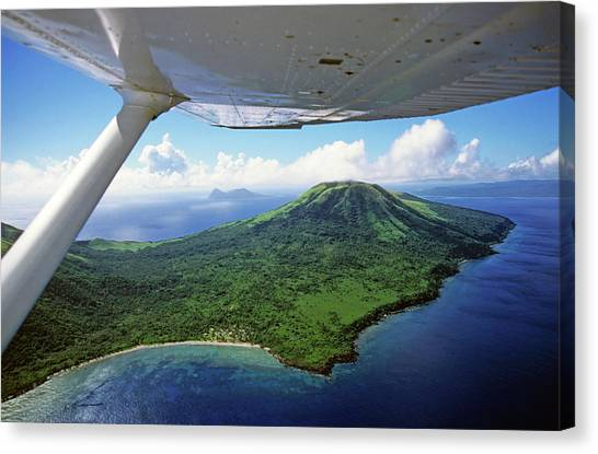 Volcanoes Seen From A Plane On The Island Of Efate Canvas Print by Sami Sarkis