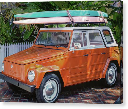 Volkswagen And Surfboards Canvas Print