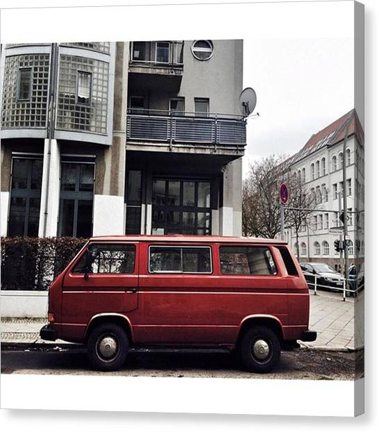 Vw Bus Canvas Print - Volkswagen T3 Bus  #berlin #neukölln by Berlinspotting BrlnSpttng