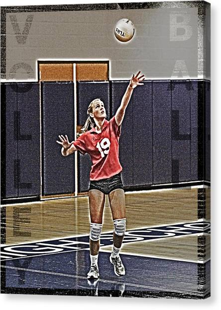 Volleyball Canvas Print - Volleyball Girl by Kelley King