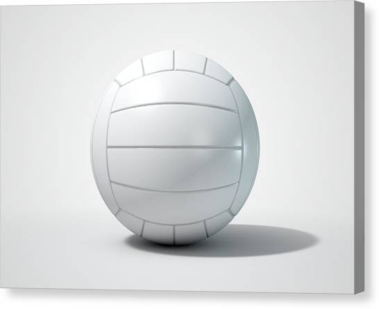 Volleyball Canvas Print - Volleyball Isolated by Allan Swart