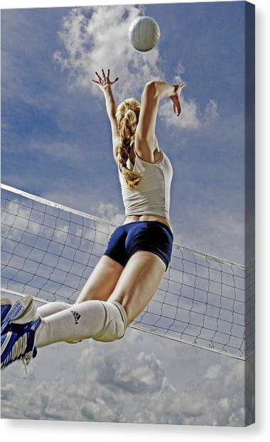 Volleyball Canvas Print - Volleyball by Steve Williams