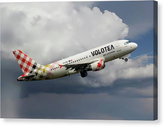 Airlines Canvas Print - Volotea Airbus A319-112 by Smart Aviation