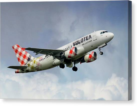 Airlines Canvas Print - Volotea Airbus A319s by Smart Aviation