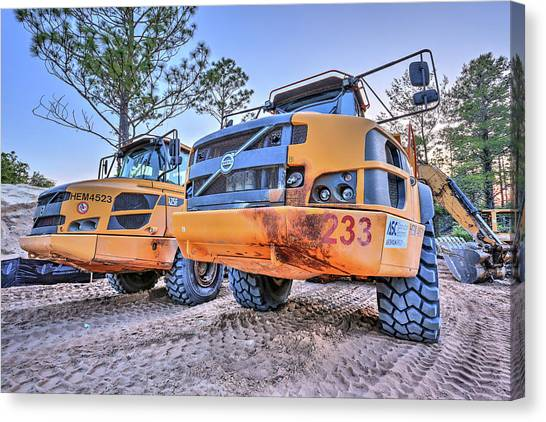 Volvo Heavy Equipment  Canvas Print by JC Findley