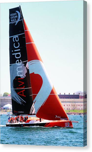 Volvo Ocean Race-team Alvimedica Canvas Print