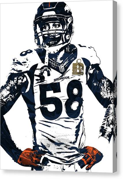 Von Miller Canvas Prints | Fine Art America