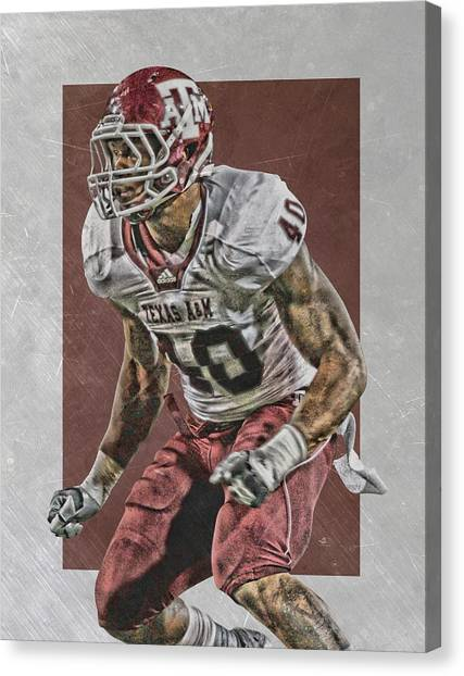 Texas A Canvas Print - Von Miller Texas A M Art by Joe Hamilton