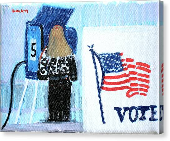 John Mccain Canvas Print - Voting Booth 2008 by Candace Lovely