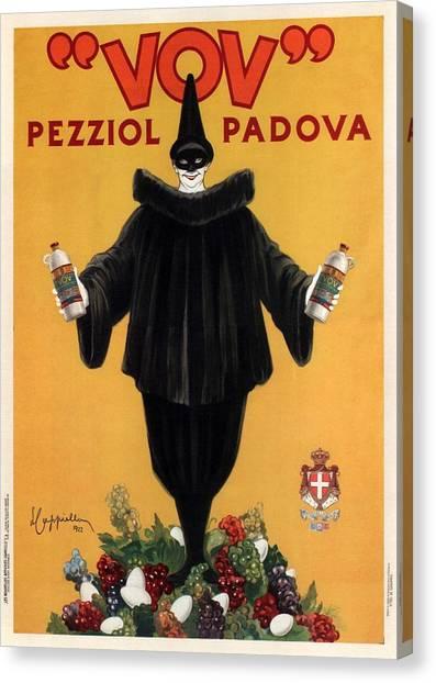 Vov Pezziol - Italian Liquer - Padova, Italy - Vintage Advertising Poster Canvas Print