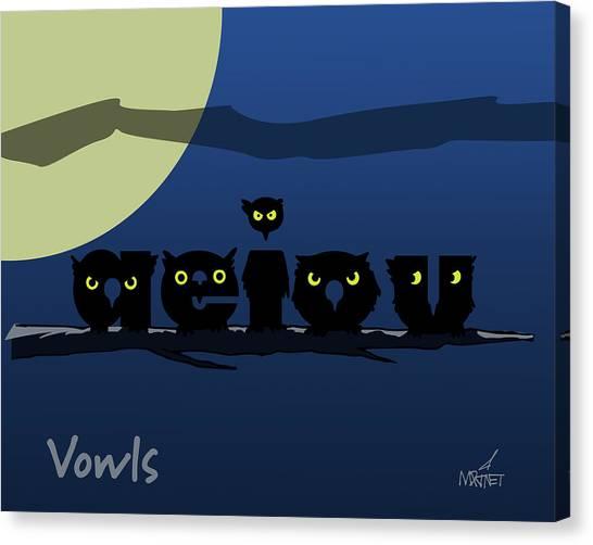 Vowls Canvas Print