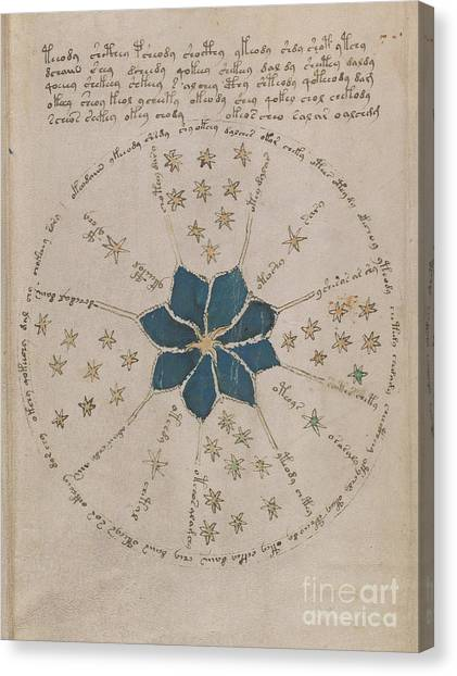 Voynich Manuscript Astro Rosette 2 Canvas Print
