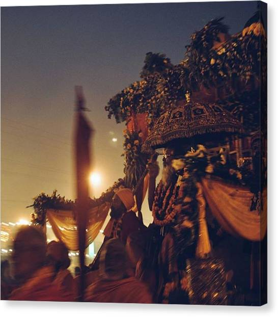 Hinduism Canvas Print - #vscocam #allahabad #prayag by Senjuti Kundu