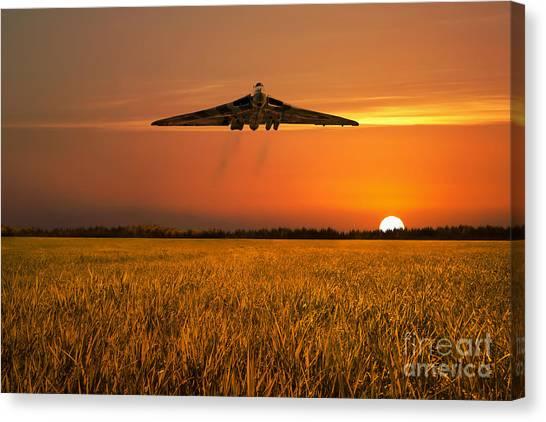 Vulcans Canvas Print - Vulcan Farewell Fly Past by J Biggadike