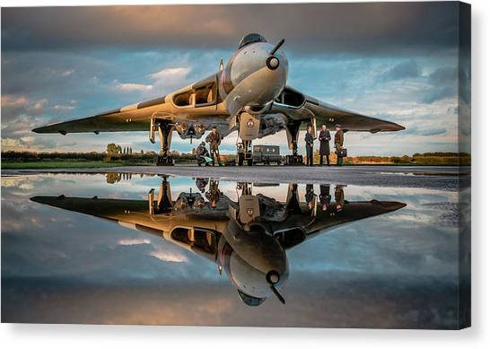 Vulcans Canvas Print - Vulcan Reflected by Neil Atterbury