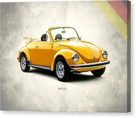 Beetles Canvas Print - Vw Beetle 1972 by Mark Rogan