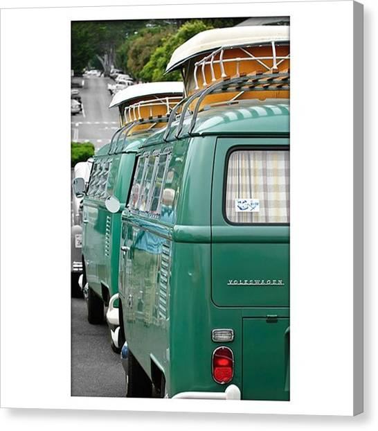 Volkswagen Canvas Print - Vw Buses #carphotographer #vw #vwbus by Jill Reger