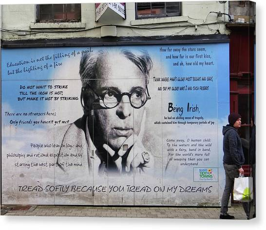 W B Yeats - Shop Front - Sligo Canvas Print
