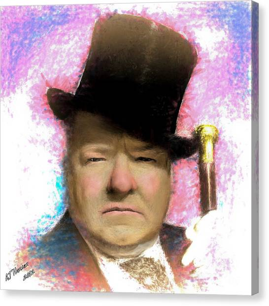Van Goughs Ear Canvas Print - W C Fields by Arne Hansen