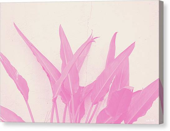 Tropical Plant Canvas Print - Wabi Sabi Garden 1- Art By Linda Woods by Linda Woods