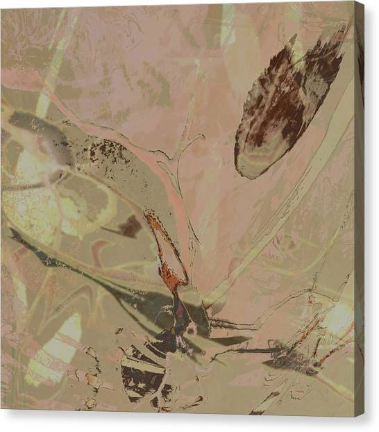 Wabi-sabi Ikebana Remix Warm Taupes Canvas Print