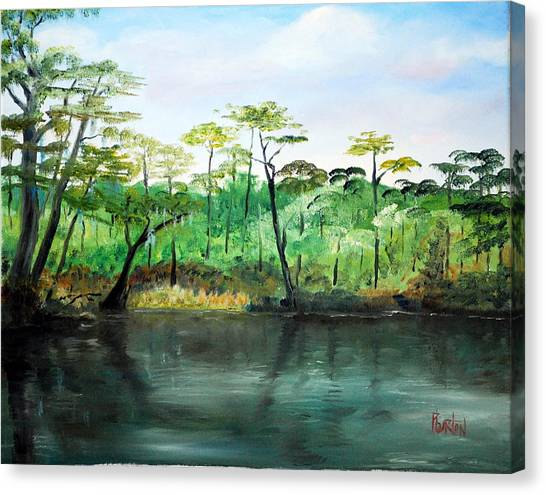 Waccamaw River - Impressionist Canvas Print