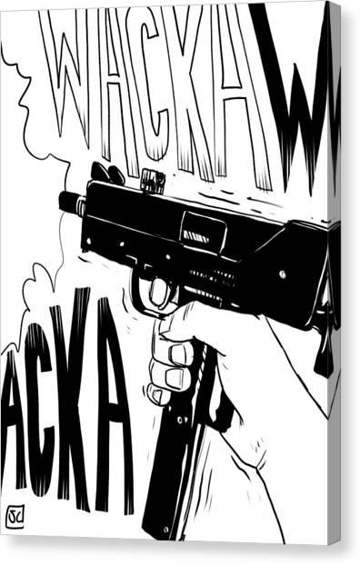 Tool Canvas Print - Wacka Wacka by Giuseppe Cristiano