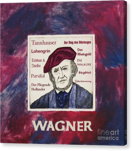 Wagner Portrait Canvas Print by Paul Helm