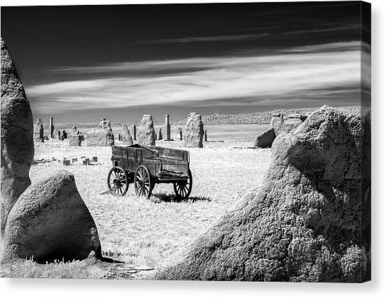 Wagon At Fort Union Canvas Print