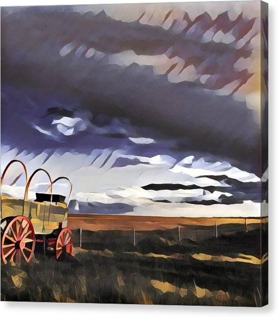 Wagon Train Canvas Print