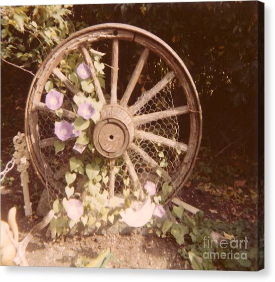Wagon Wheel Memoir Canvas Print