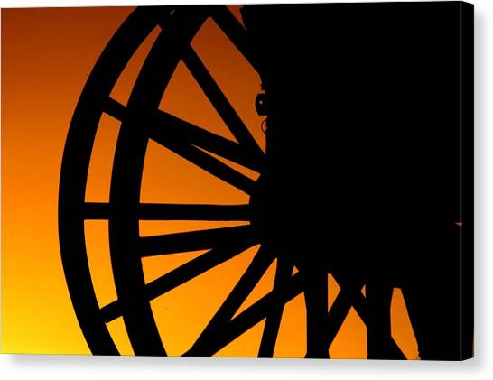 Wagon Wheel Sunset Canvas Print