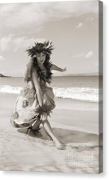 Hawaii Canvas Print - Wahine Hula by Himani - Printscapes
