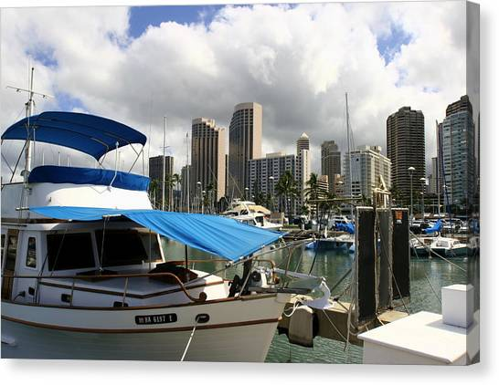Waikiki Port Canvas Print by Andrei Fried