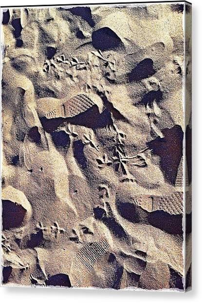 Waikiki Sand Canvas Print