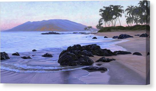 Beach Sunrises Canvas Print - Wailea Sunrise by Steve Simon