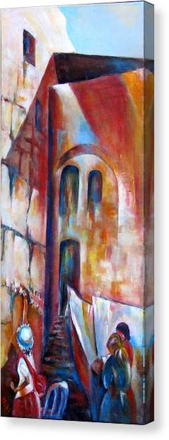 Wailing Wall Women  Section Canvas Print