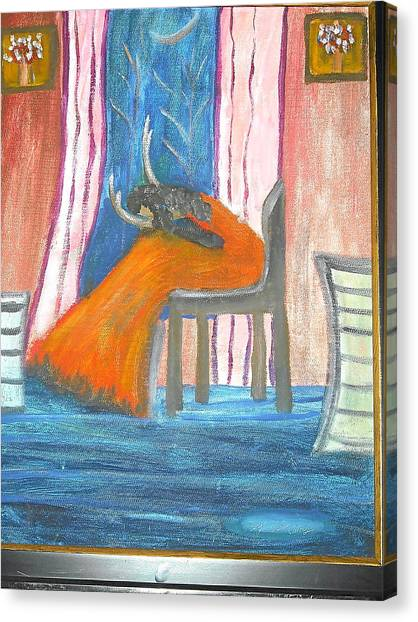 Wailing Woman Canvas Print by Betty Abrams