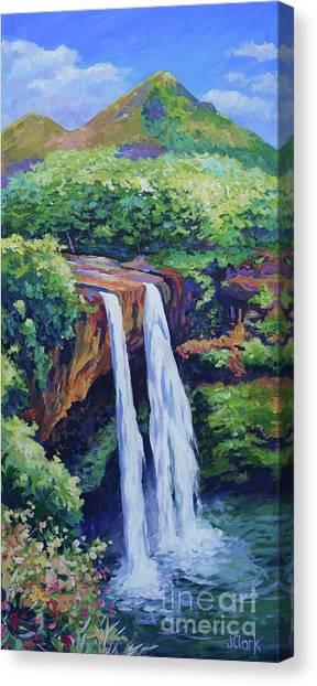 Jurassic Park Canvas Print - Wailua Falls by John Clark
