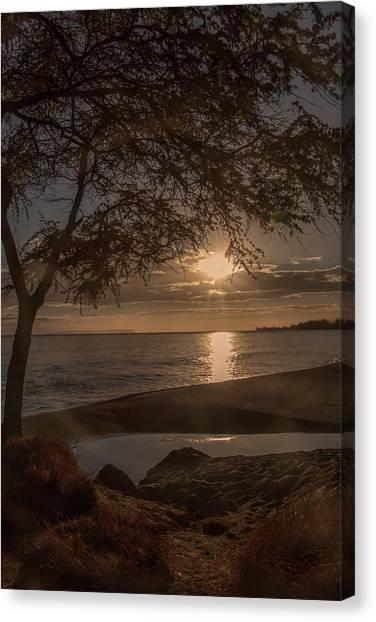 Waimea Bay Sunset 4 Canvas Print