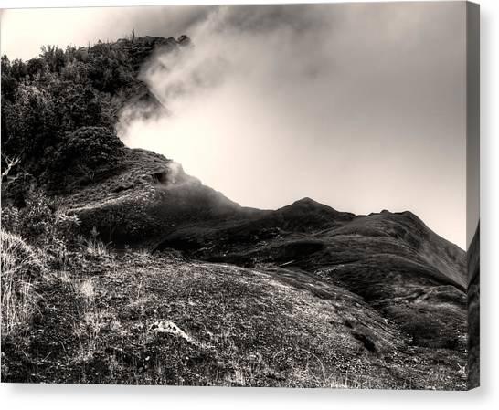 Waimea Early Morning Fog Canvas Print
