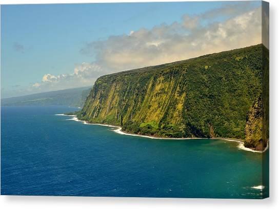 Waipio Waterfall Coastline Canvas Print