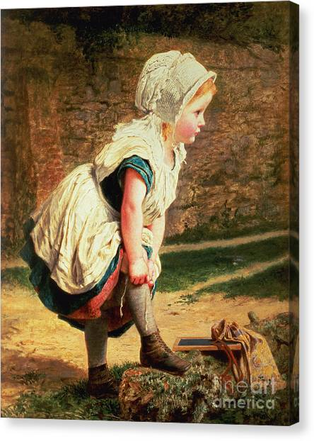 Victorian Canvas Print - Wait For Me by Sophie Anderson