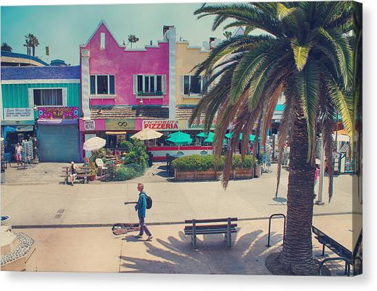 Santa Monica Canvas Print - Waitin' For Victorio by Laurie Search