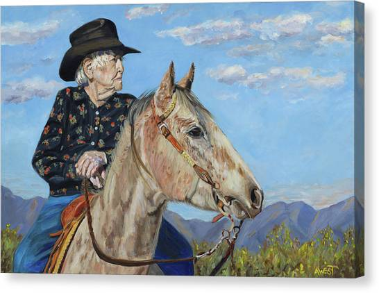 Sick Canvas Print - Waitin' On The Drive - Georgie And Ches by Anne West