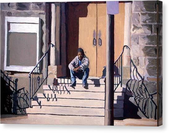 Canvas Print - Waiting And Resting by David Buttram