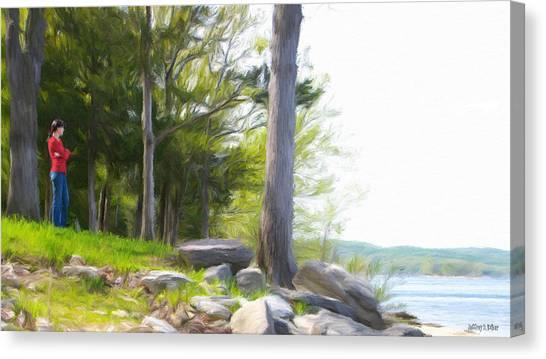 Waiting Ashore Canvas Print