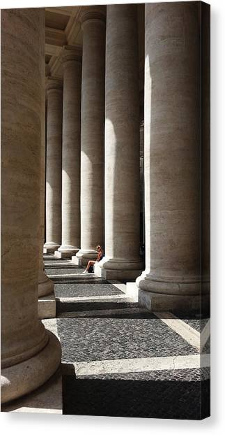 Waiting At St Peter's Canvas Print