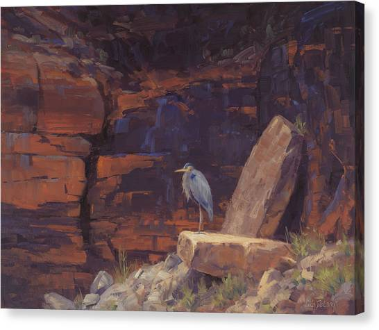 Red Rock Canvas Print - Waiting by Cody DeLong